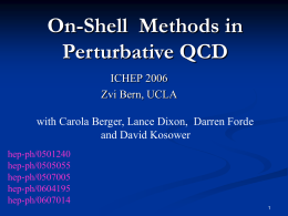 On-Shell Methods in Perturbative QCD
