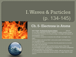I. Waves & Particles