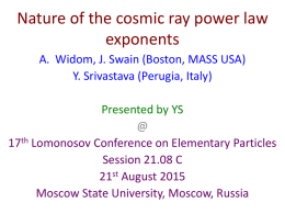 Nature of the cosmic ray power law exponents