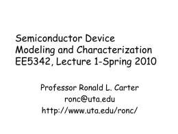 EE 5342 Lecture