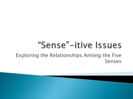 "Sense""-itive Issues - Los Alamitos Unified School"