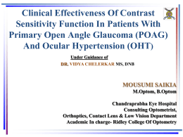 Clinical Effectiveness Of Contrast Sensitivity Function In Patients