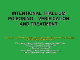 Thallium intentional intoxication Pelclova et al