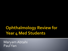 Ophthalmology Review 2014