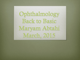 basic 2015 Ophthalmology March 25, 2015