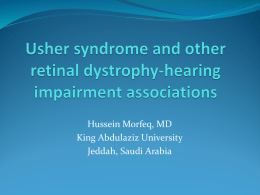 Usher syndrome and other retinal dystrophy