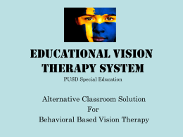 Vision Therapy
