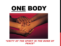 One Body - South Marion church of Christ