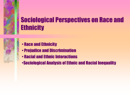 sociology essay on race and ethnicity About this journal the official journal of asa's section for racial and ethnic minorities, sociology of race and ethnicity publishes the highest quality, cutting-edge sociological research on race and ethnicity regardless of epistemological, methodological, or theoretical orientation.