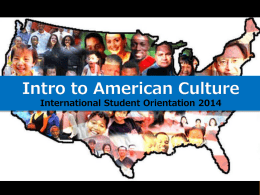 Introduction to American Culture - Rochester Institute of Technology