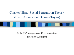 social-penetration-theory1 - Interpersonal Communication at BCTC