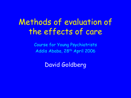 Evaluation of training courses