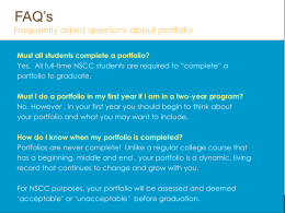 What's Portfolio Education?