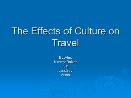 The Effects of Culture on Travel