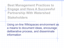 Best Management Practices to Engage and Have A Successful