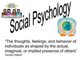 Social Psychology - Coweta County Schools