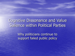 Cognitive Dissonance within Political Parties