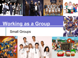 Working as a Group