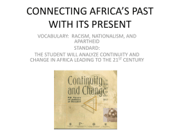 connecting africa`s past with its present