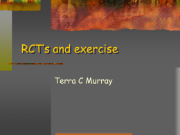 RCT`s and exercise