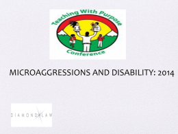 Microaggressions and Disability
