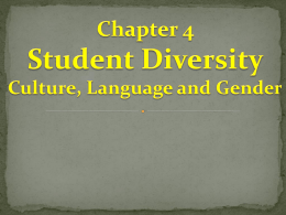 Chapter 4 Student Diversity Culture, Language and Genderx