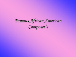 African American Composers
