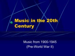 Music in the 20th Century