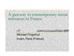 A gateway to contemporary music resources in France