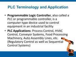 PLC Terminology and Application