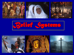How have belief systems spread over large areas?