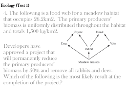 Ecology practice questions