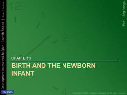 birth and the newborn infant