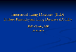 11. Interstitial lung diseases