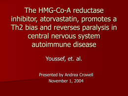 The HMG-Co-A reductase inhibitor, atorvastatin, promotes a