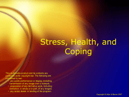Stress, Health, and Coping