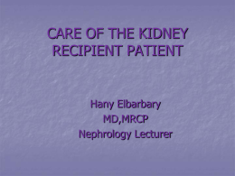 ANNA'S NEPHROLOGY REVIEW COURSE PRE TRANSPLANT