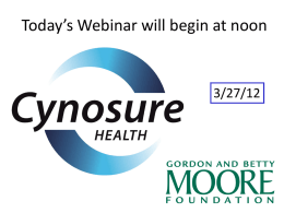 Today`s Webinar will begin at noon