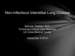Non-infectious Interstitial Lung Disease