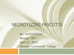 What is Necrotizing Fasciitis? - HCC Learning Web