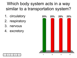 Which body system acts in a way similar to a transportation system?