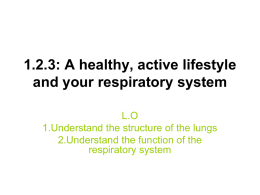 1.2.3: A healthy, active lifestyle and your respiratory system