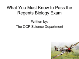 What You Must Know to Pass the Regents Biology Exam