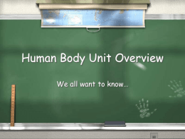 Human Body Unit Overview