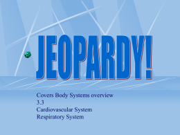 Jeopardy Cardiovascular and Respiratory Systems 2015