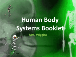Human Body Systems - MrsWigginsScience