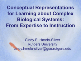 Understanding Complex Systems - CITE | Centre for Information