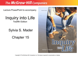 Inquiry into Life Twelfth Edition