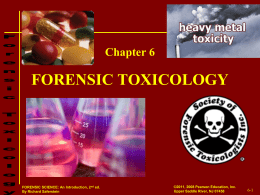 Forensic Toxicology found in Postmortem