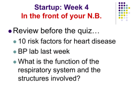 Startup: Week 4 In the front of your NB